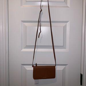 Vera Bradley brown leather crossbody